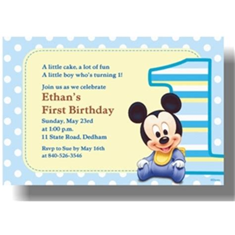 mickey mouse 1st birthday invitations template best