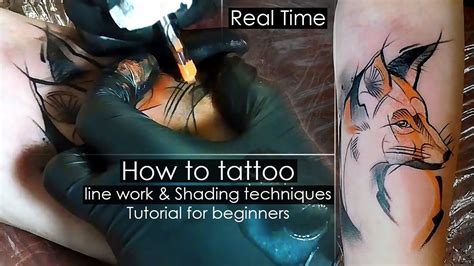 how to tattoo for beginners how to line work shading techniques tutorial