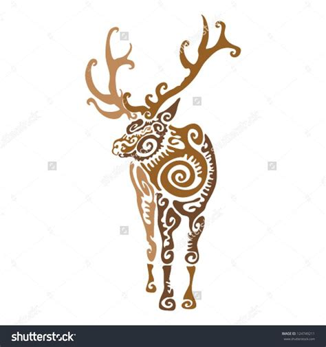 tribal elk tattoos 50 best tribal caribou images on tribal