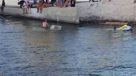 havasu boat r fails lake havasu site 6 truck sinks at loading dock video 2