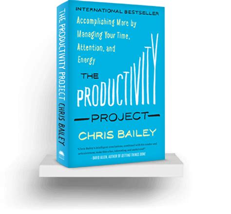 the productivity project accomplishing the productivity project a life of productivity