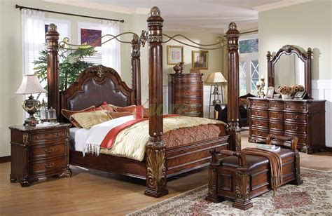 Canopy Bed Sets Bedroom Furniture Sets W Poster Canopy Bedroom Furniture Sets