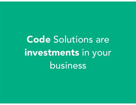coding solutions code solutions are investments in