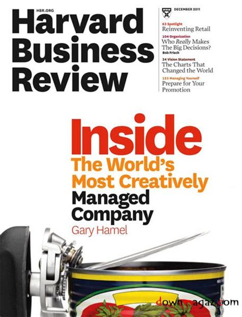 Harvard Mba Review by Harvard Business Review December 2011 187 Pdf