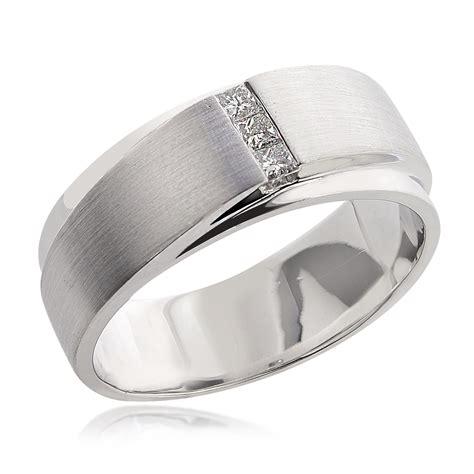 0 21 carat mens princess cut wedding band 14k