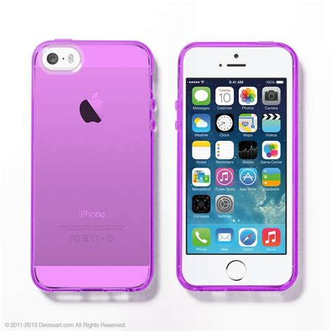 Iphone Iphone 5 5s In Purple Cat Cover purple soft clear iphone 6 5s decouart