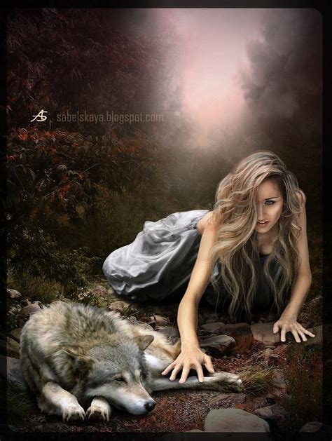 imagenes mujeres lobas the girl and wolf by m31 andromeda on deviantart