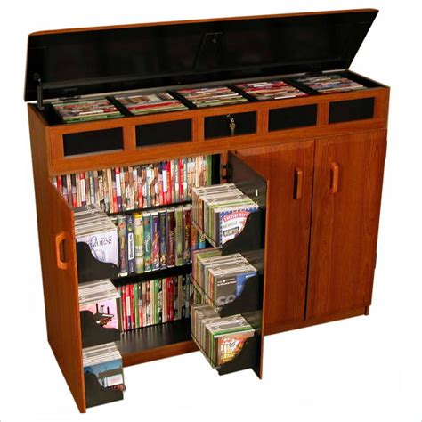 best media cabinets venture horizon top load cd dvd media storage cabinet ebay