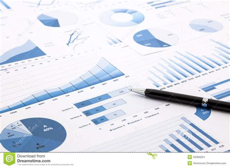 Background Report Blue Charts Graphs Data And Reports Stock Photo Image 42360254