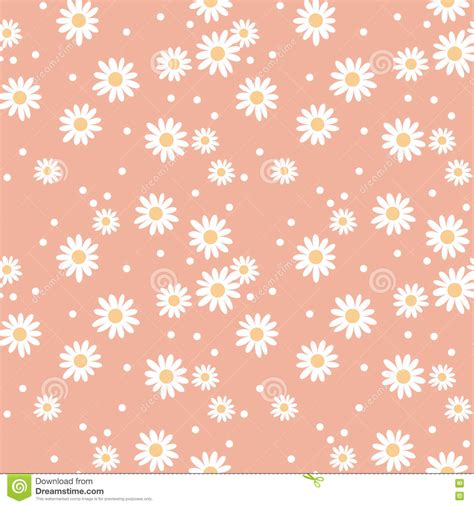 daisy background pattern vector daisy cute seamless pattern stock vector image 75548092