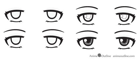anime eyes nose how to draw anime eyes and eye expressions tutorial