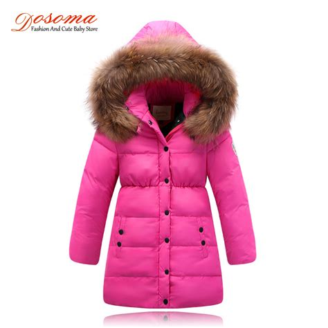 Jaket Parasut Winter Pink children s winter coat 2016 brand winter jackets for fur hooded warmer
