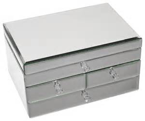 legacy mirrored glass 3 drawer jewelry box contemporary