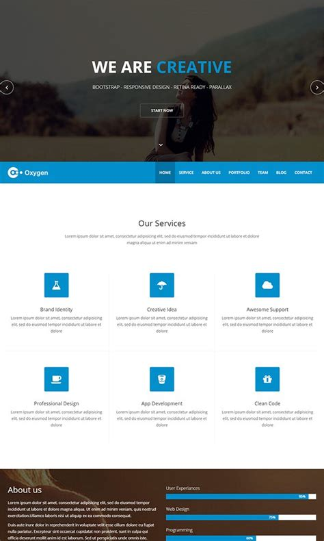 bootstrap themes one page 80 free html5 website templates