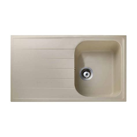 Beige Kitchen Sinks Rangemaster Amethyst 1 0 Bowl Granite Kitchen Sink Beige