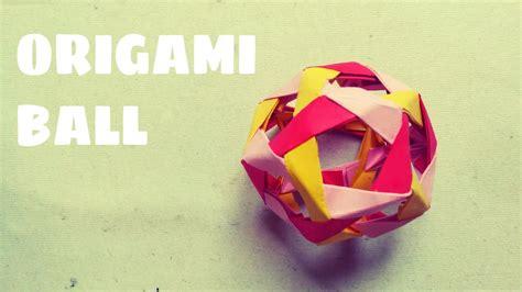 origami ball tutorial origami easy youtube