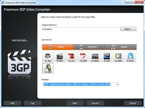 3gp converter software free download screenshot downloads of freeware freemore 3gp video