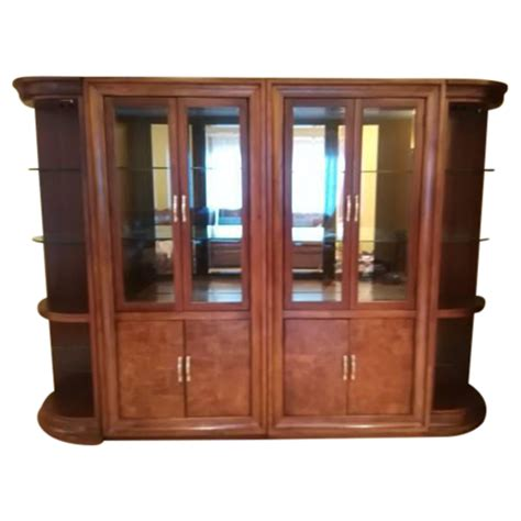 Thomasville Bar Cabinet Thomasville Quot Bogart Quot Glass Door China Cabinet Chairish