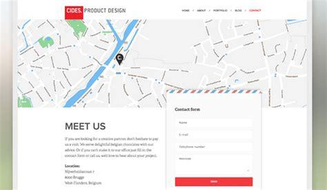 11 inspirational flat design contact us page