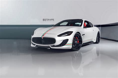maserati granturismo white black rims patriotic maserati granturismo s poses on satin black