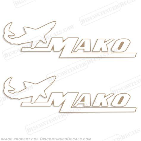 mako boats decals mako marine boat decals set of 2 white gold