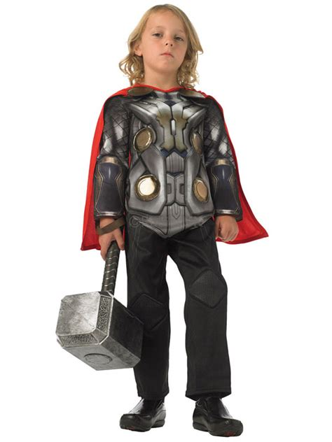 marvel the thor child costume licensed boys ebay child marvel thor 2 initiative deluxe fancy dress costume ebay