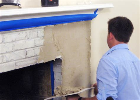 how to resurface a fireplace weekend projects resurface a fireplace with stucco hgtv