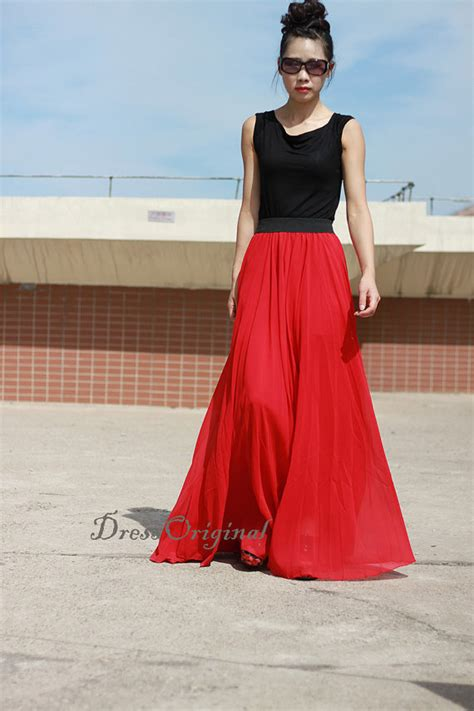 Floor Length Maxi Skirt by Maxi Skirt Floor Length Skirt Layered