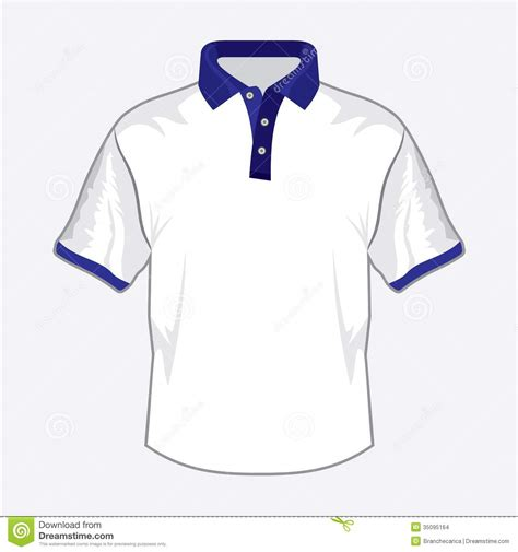 White Polo Shirt Design With Dark Blue Collar Stock Vector Illustration Of Clean Casual 35095164 Collar Shirt Design Template