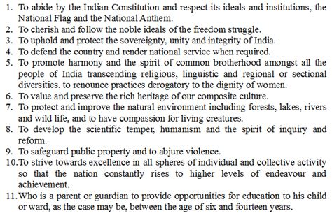 As A Citizen Of India My Duties Are Essay Writing For by Fundamental Duties In The Indian Constitution Edugeneral