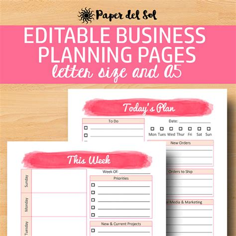 printable home business planner direct sales planner a5 business planner printable business