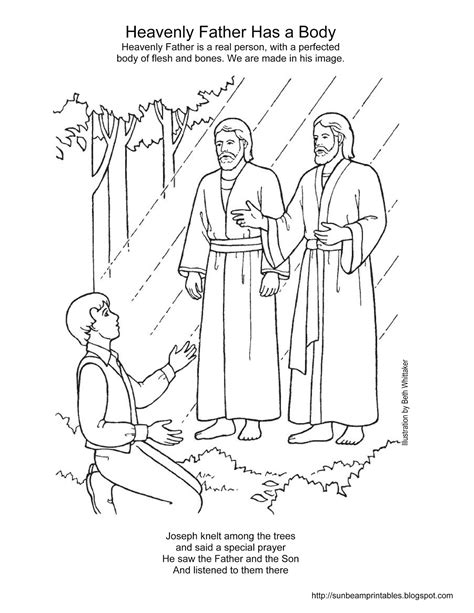 joseph smith first vision coloring page