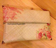 tutorial clutch decoupage other side clutch woven pandanus decoupage decoupage