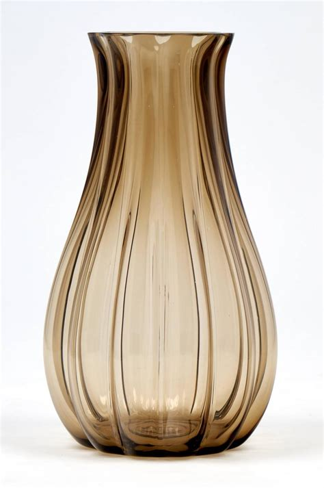 Glass Vases Large by Large Murano Smoked Glass Vase For Sale At 1stdibs