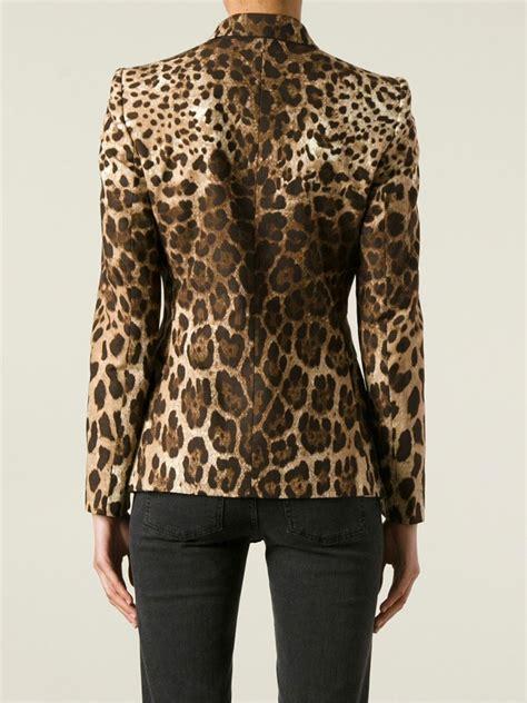 Leopard Blazer Black lyst dolce gabbana leopard print blazer in black