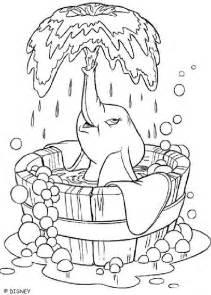 Nemo Baby Bathtub Dumbo Coloring Pages ダンボ 象 ディズニーキャラクターのぬりえ 塗り絵 画像素材 無料