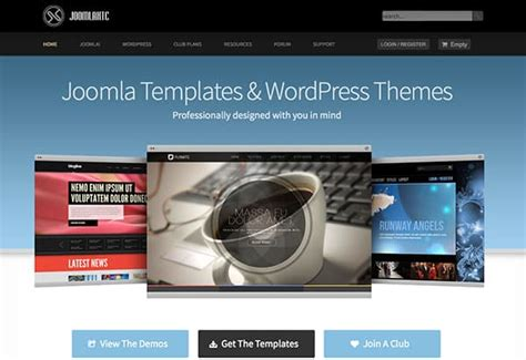 joomla org templates the top places to find joomla templates web design