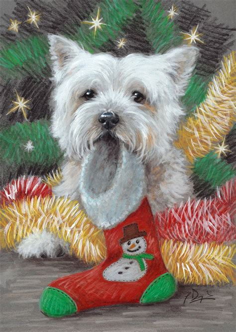 west highland terrier pack   christmas cards great expectations  paul doyle