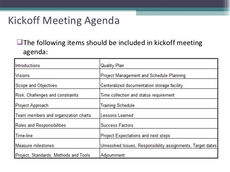 project kickoff meeting template project kickoff meeting agenda best agenda templates