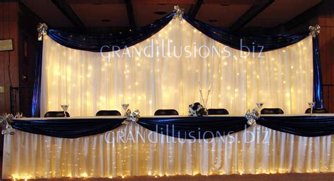 head table backdrop wedding reception