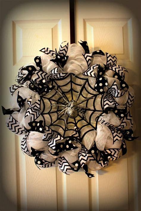 unique halloween deco mesh wreath ideas