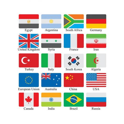 flags of the world early years flag icon set vector free download