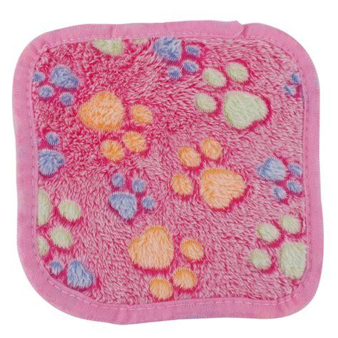 Pet Bed Soft Flannel Warm pet flannel paw print hedgehog bed cushion soft warm
