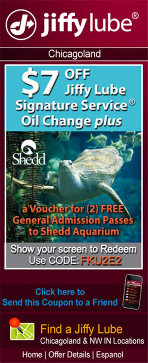 Shed Aquarium Coupons by Jiffy Lube Purplegroup