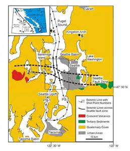seattle earthquake map seattle fault