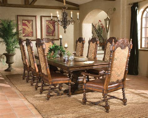 aspen rectangular dining table  mediterranean