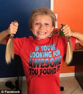 8 year black hair dues christian mcphilamy 8 grew his hair to donate to child