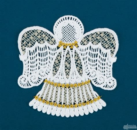 embroidery design lace freestanding lace angel 1 embroidery design