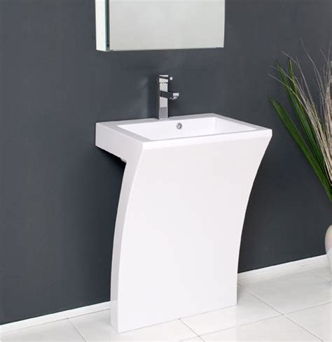 Modern Pedestal Bathroom Sinks Fresca Quadro 22 5 Modern Bathroom Vanity Fresca White Pedestal Sink