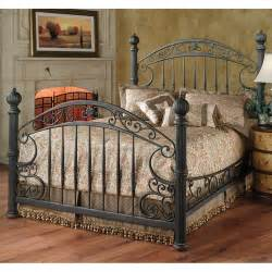 chesapeake iron bed in rustic brown by hillsdale